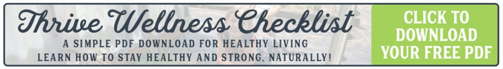 Link to Free Wellness Checklist from Homesteading Family