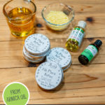 Pinterest pin with images of arnica oil and arnica salve.