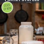 Pinterest pin for pantry staple items to always have on hand.