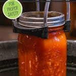 Pinterest pin on whether you can reuse canning lids. Images of canned food.