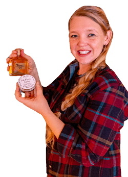 woman holding homemade herbal remedies