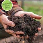 Pinterest pin for compost troubleshooting with images of finished compost.