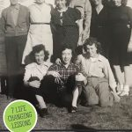 Pinterest pin for life lessons learned from the Great Depression Era with an image of an elderly woman and old black and white photographs.