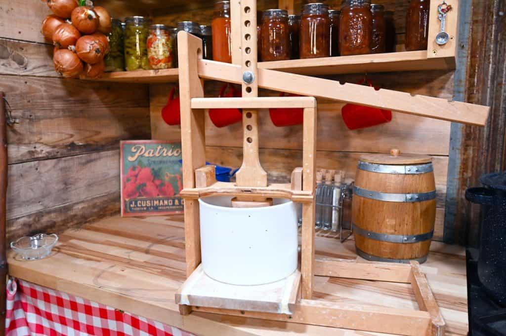 A Dutch style cheese press.